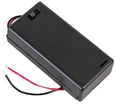PRO POWER PP002104  Battery Box, 2X Aa, Switched, Wired